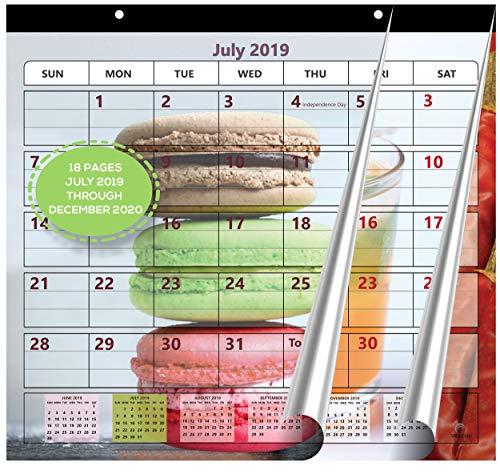 Magnetic Fridge Calendar 2019-2020 by StriveZen, Strong Magnets for Refrigerator, Monthly July 2019 -December 2020, 10x10 Inch, Academic, Desktop, Gift, Teacher Family Busy Mom Office