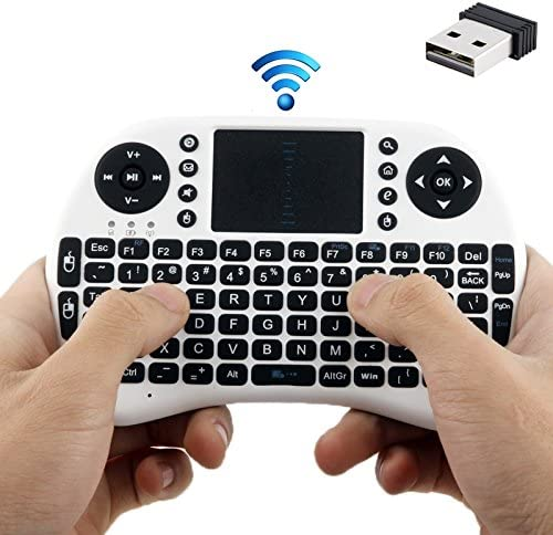 White CHENNAN Rii 2.4GHz 92 Keys Mini Wireless Keyboard Mouse Combo with Touchpad