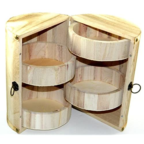 Design Your Own Wood Box Barrel DIY Unfinished Trinket Jewelry Craft
