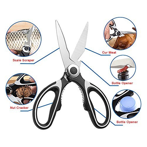 Tigeo cdy007 Shears001A Ultra Sharp Premium Heavy Duty Kitchen Shears and Multi Purpose Scissors