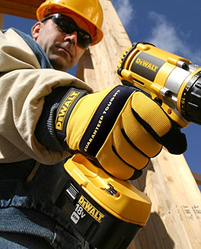 Dewalt DPG20L All Purpose Synthetic Leather Palm Spandex Back Velcro Wrist Work Glove, Large by DEWALT (Image #3)