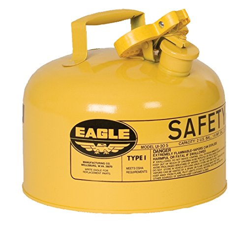 Eagle UI-25-SY Yellow Metal Safety Gas Can, 2.5 gal Capacity by Eagle