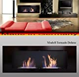 Fireplaces Manufacturer Mierzwa (DF-Shopping, Germany) Bio Ethanol Fire Place Model Tornado Deluxe Black