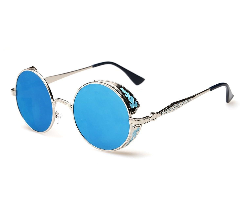 Retro round box Prince mirror sunglasses shade