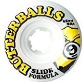 Sector 9 Top Self Butter Balls Slide Wheels, White, 65mm 80A