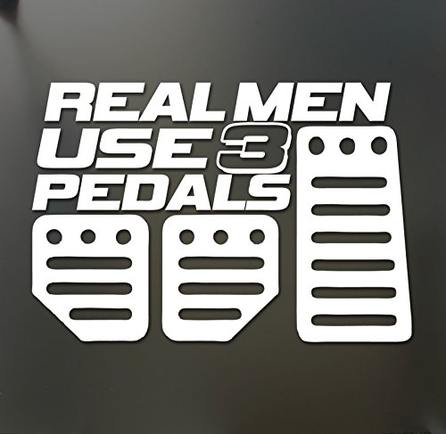 Real Men Use 3 Pedals sticker Funny acura honda race car truck window decal, Die cut vinyl decal for windows, cars, trucks, tool boxes, laptops, MacBook - virtually any hard, smooth surface