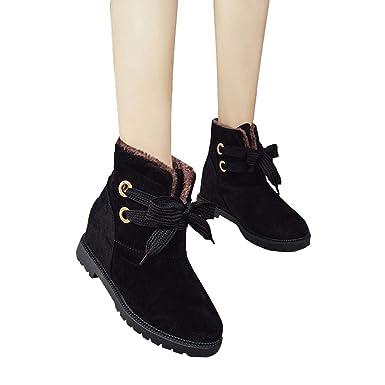 TianWlio Boots Stiefel Schuhe Stiefeletten Frauen Herbst Winter Wildleder  Samt Warme Stiefel Schneestiefel Baumwolle Stiefel Stiefeletten Boots Schuhe  ... 3728f5c9db