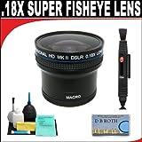 .21x HD Professional Super Wide Angle Panoramic Macro Fisheye Lens + Lenspen + 6 Pc Cleaning Kit + DB ROTH Micro Fiber ClothFor The Panasonic Lumix DMC-FZ150, FZ47, FZ48, FZ60, FZ62 Digital Camera