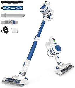 ORFELD Cordless Vacuum, Stick Vacuum Cleaner 4 in 1, Upgrade Version with 17000 Pa Powerful Suction, Lightweight & Ultra-Quiet Handheld Vacuum for Car Pet Hair Carpet Hard Floor