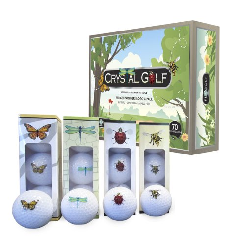 Crystal Golf BallsWinged Wonders 1 Dozen
