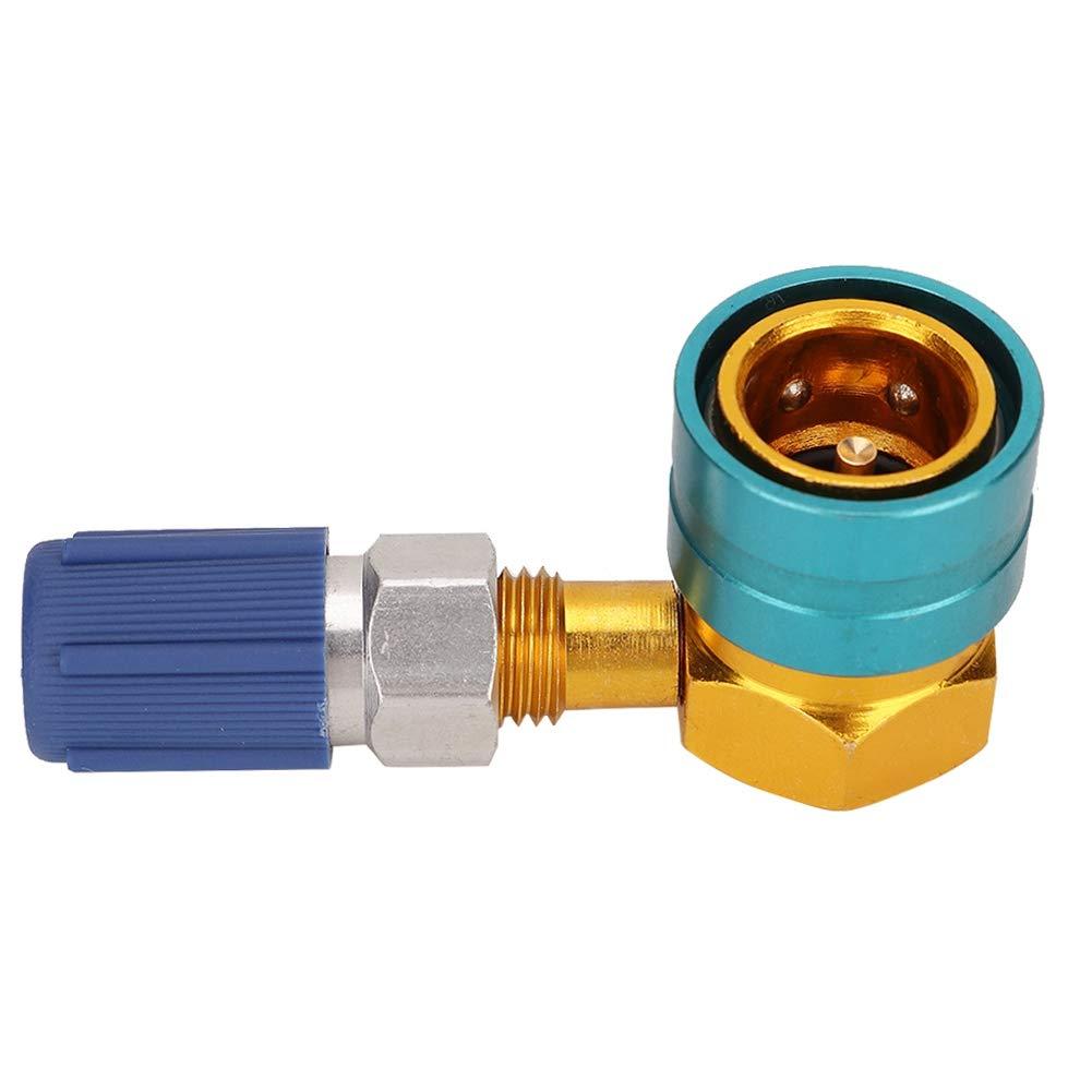 Qii lu Adaptateur Rapide pour Coupleur Lat/éral en Aluminium 37g R1234YF /à R134A Equipement de Climatisation de Voiture