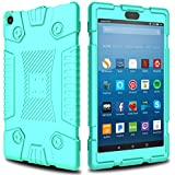 Elegant Choise Case for Fire 8 2017/2018 Tablet Case, Soft Silicone Kid Friendly Light Weight Shockproof Protective Case Cover for All-New Amazon Kindle Fire HD 8 7th and 8th Generation Tablet (Green)