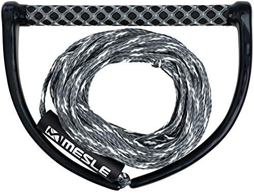 """MESLE Wakeboard Rope ONE with 15"""" Handle, Length 16,8 m – 18,3 m, EVA Soft Grip, floating, Wakeboarding Line…"""