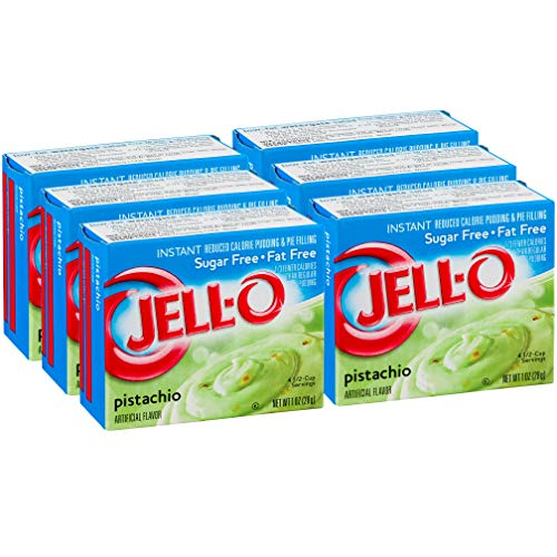 Jell-O Sugar-Free Pistachio Instant Pudding Mix 1 Ounce Box (Pack of 6)