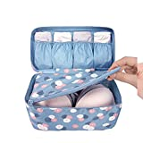 Kipten Waterproof Clothing Organizer Storage Box, Underwear Bra Packaging Makeup Makeup Bag Storage Bag