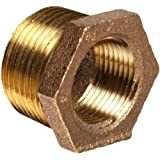 Anderson Metals Brass Threaded Pipe Fitting, Hex Bushing, 1-1/4