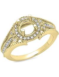 0.25 Carat (ctw) 14K Gold Round Diamond Ladies Semi Mount Engagement Ring 1/4 CT