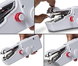 Portable Sewing Machine, Mini Sewing Professional Cordless Sewing Handheld Electric Household Tool - Quick Stitch Tool for Fabric, Clothing, or Kids Cloth Home Travel Use from sewing_mach