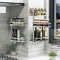 caj/ón de Almacenamiento Antideslizante Gelentea Especiero de Cocina 3 Rejillas organizadoras de Especias de pl/ástico para condimentos Botellas