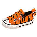 KaMiao Toddler Animal Canvas Shoes Slip On Sneakers KM911-Orange-25
