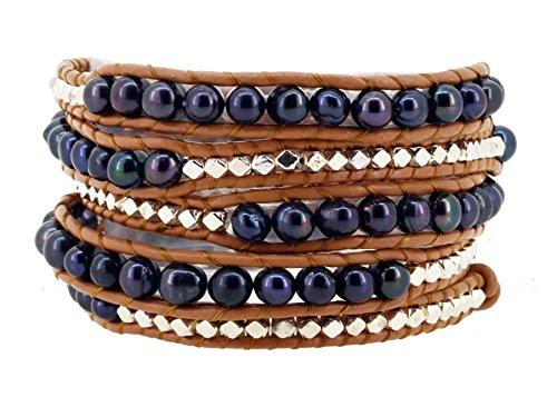 Pearl Beaded Wrap Bracelet - 5