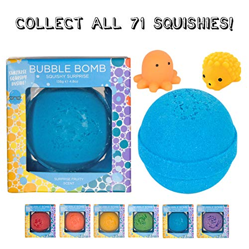 Squishy Bubble Bath Bomb for Kids with Surprise Animal Squishy Toy Inside...