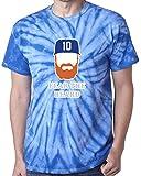 """The Silo TIE DIE BLUE Turner Los Angeles """"Beard"""" T-Shirt"""