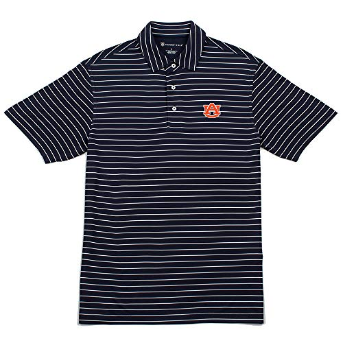 Oxford NCAA Auburn Tigers Mens Turner Classic Stripe Polo, Classic Navy, X-Large