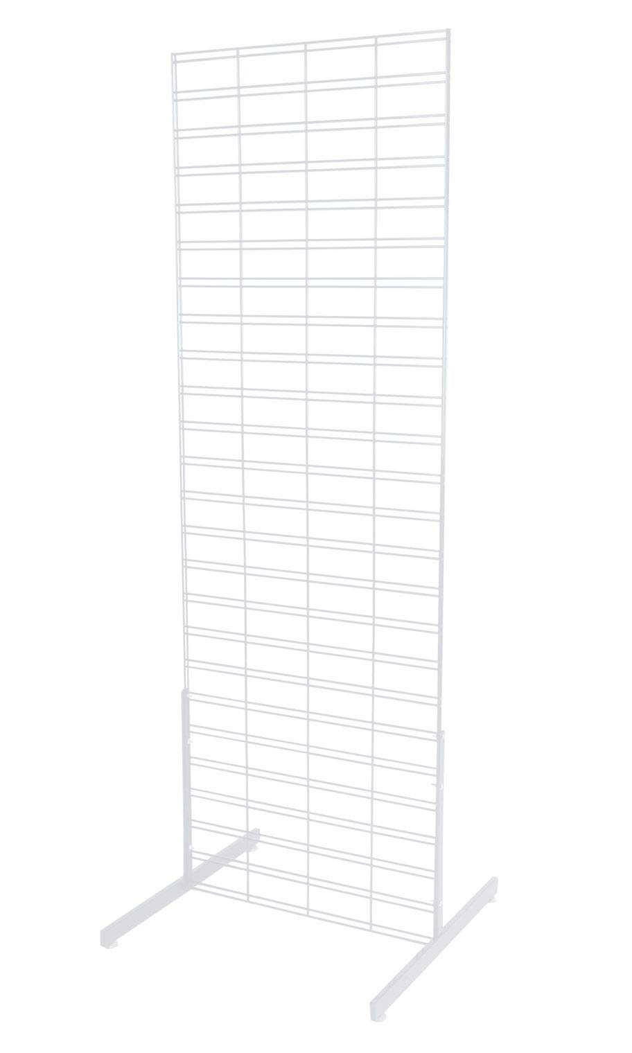 2 x 6 Foot White Slat Grid Standing Grid Screen - Includes Slat Grid Panel and 2 Grid Legs