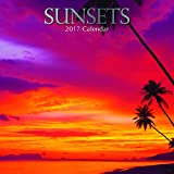 "Beaufiul Photographs of Sunsets 2017 Monthly Wall Calendar, 12"" x 12"""