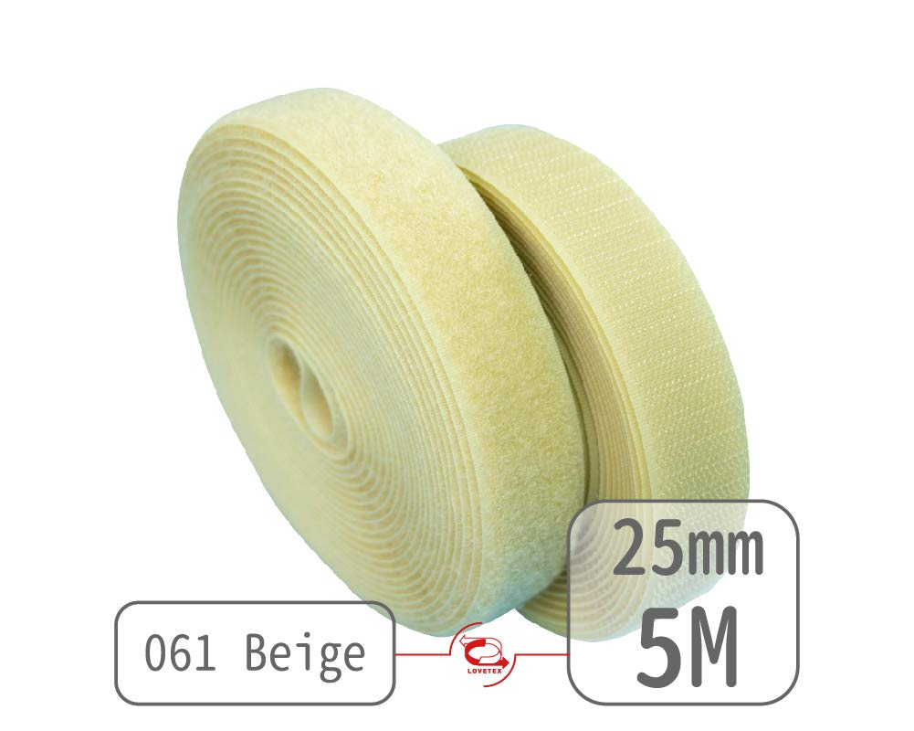 25mm(1) Width 5 pair meters Sew-On Hook& Loop Fastener Tape for 12 colors (#030 Sky Blue) Lovetex