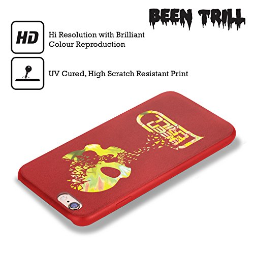 Official Been Trill Shatter Colourful Prints Red Leather Back Case Cover For Apple iPhone 6 / 6s