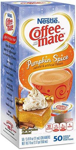 Spice Single - Pumpkin Spice, Coffee-mate Liquid Coffee Creamer 50 CT Single Serving Tubs - Seasonal Flavor