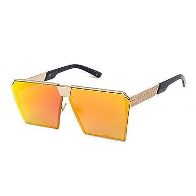 f43517fcf27a53 VeBrellen Lunettes de soleil surdimensionnées pour hommes Lunettes de  lunette carrée cadre en métal UV400 Non