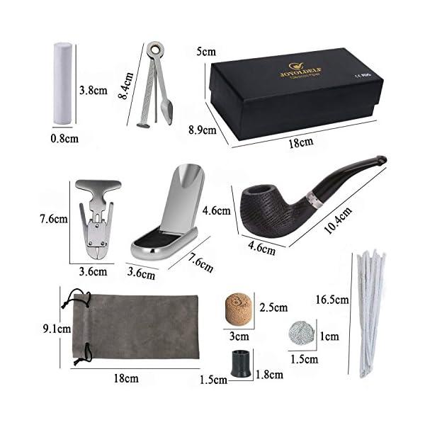 Quercia tabacco pipa, di legno pipa con Pipa Supporto, Pipe alesatore, 3 in 1 Reamers Tamper e Altri accessori, con un… 7 spesavip