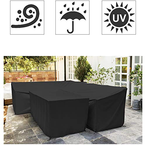 AZUO Funda Muebles Jardin Impermeable,Protector Mesa Apilables ...