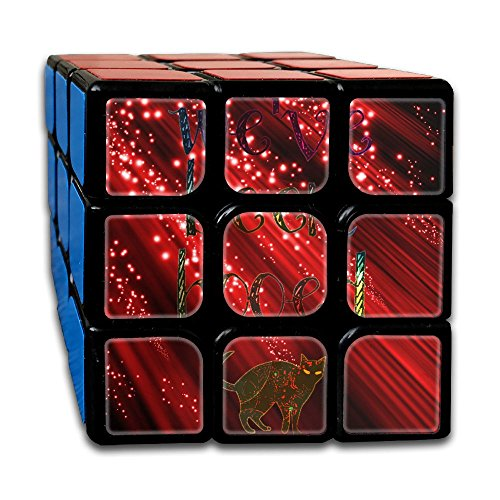 Halloween Booed Cat Puzzle Cube 5.5X5.5X5.5 Magic Cube Speed Cube Educational Toys Gifts For All Age