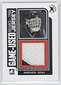 Dominik Hasek #1/1 (Hockey Card) 2013-14 In the Game Decades 1990s Game Used Black Jersey 2013 Fall Expo #M-07