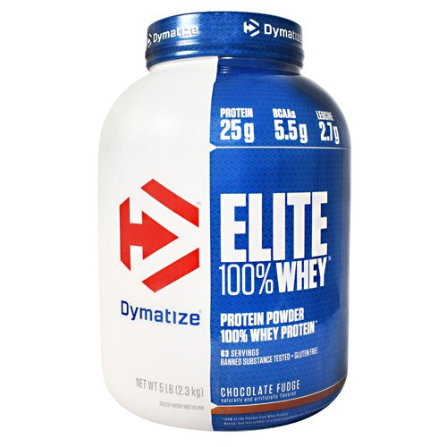 Dymatize 2270 g Chocolate Fudge Elite 100 Percent Whey Protein by (Dymatize Elite Protein Chocolate)