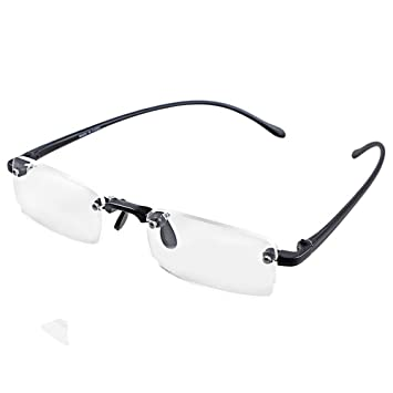 145ee63629 Convenient Stylish Fashion Design Rimless Frameless Reading Presbyopic Glasses  Clear Eyeglasses with Case +2.00 (