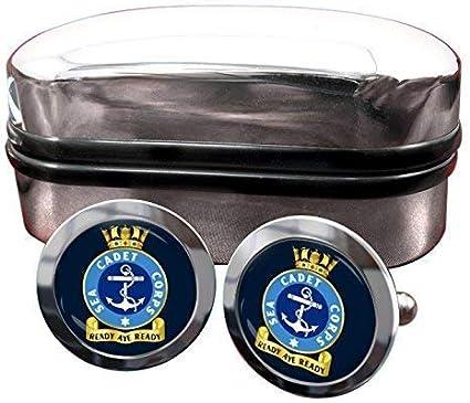 UK SEA CADETS CORPS BADGE MENS CUFFLINKS GIFT