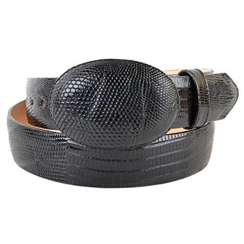 - Original Black Lizard Teju Skin Western Style Belt