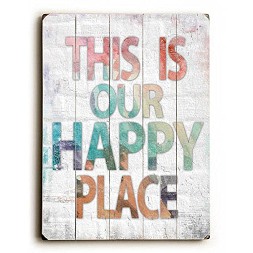 This is Our Happy Place by Artist Misty Diller - Distressed wall art