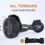 "TOMOLOO Hoverboard UL2272 Certified 8.5"" All Terrain Wheels Off-Road App Controlled Electric Self Balancing Scooter for Kids and Adults with Bluetooth Speaker and LED Light"
