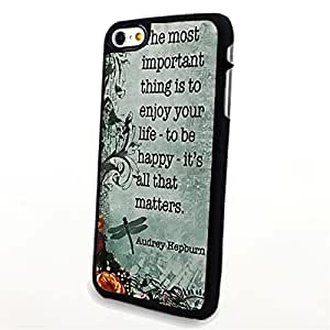 apply Phone Accessories Matte Hard Plastic Phone Cases Quote Enjoy Your Life fit For Apple Iphone 5/5S Case Cover