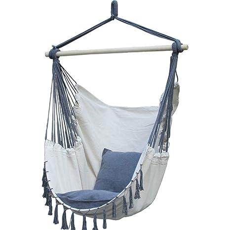 Amazon.com: Hamaca silla colgante cuerda Porch columpio ...