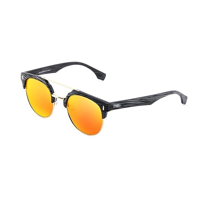 Occhiali da sole TWIG Pollock uomo/donna UV 400 sunglasses (Nero/Blu) z0PtUPke7D
