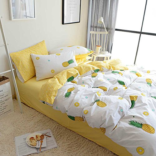 ORoa crops Pie Yellow Pineapple Duvet Cover Sets