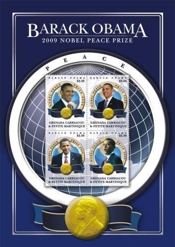 Barack Obama Pres Nobel Peace Prize Sheetlet, MNH SC# 2745 - Grenadines