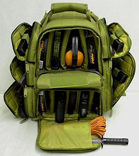 Backpack Range Bag With Large Padded Deluxe Tactical